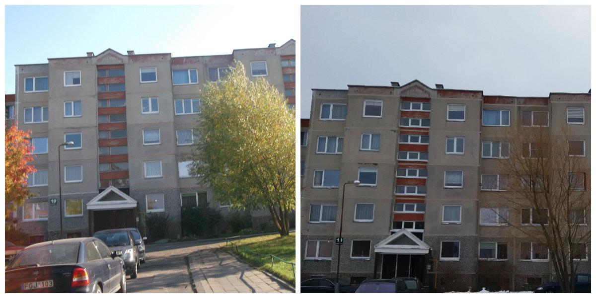 Taip atrodo K. Korsako g. 19-asis namas PRIEŠ ir PO atnaujinimo