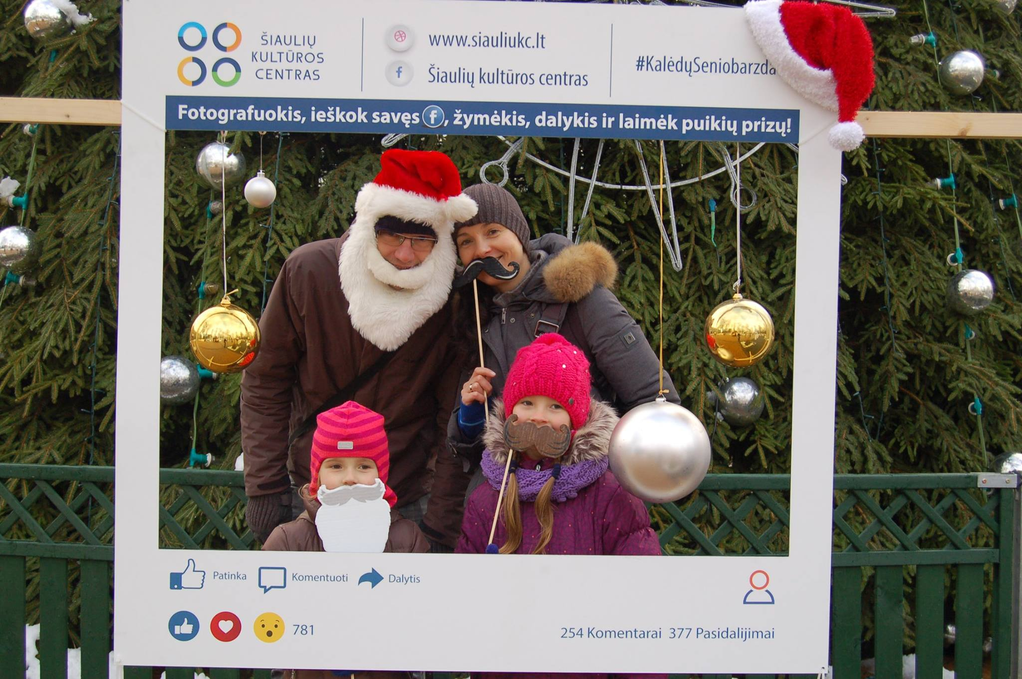 """Konkursas """"Kalėdų Senio barzda"""" miestiečiai kviečiami įsiamžinti su barzdomis"""